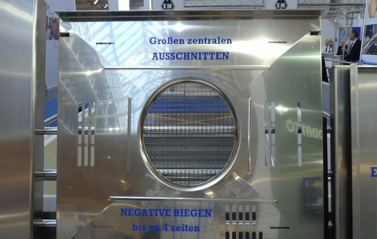 Examples of products processed by panel bender