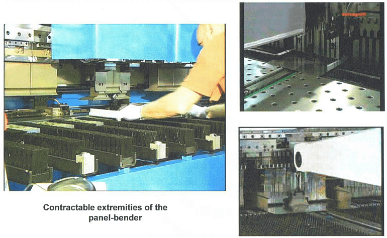 front, reverse, wide, curved and right angle bending of the panel
