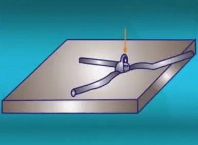 Straightening of round steel deformation