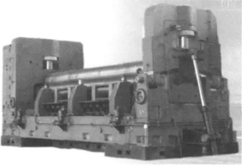 Fig. 2 CDW11XNC -40×8000 horizontal down type three-roll bending machine