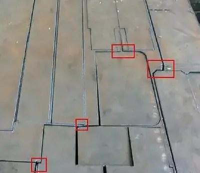 Conventional edge preheating lead cutting method