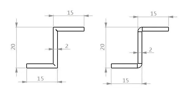 Z-shape grooving