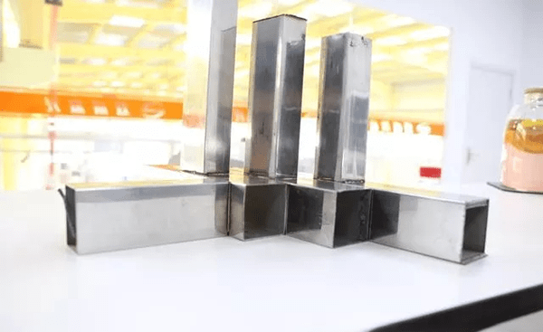 Welding of stainless steel square tube
