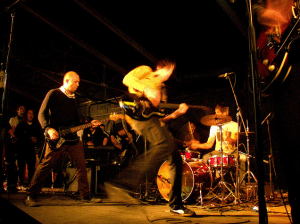 High Tension Wires at FunFunFun Fest 2008, photo by Matthew Juarez