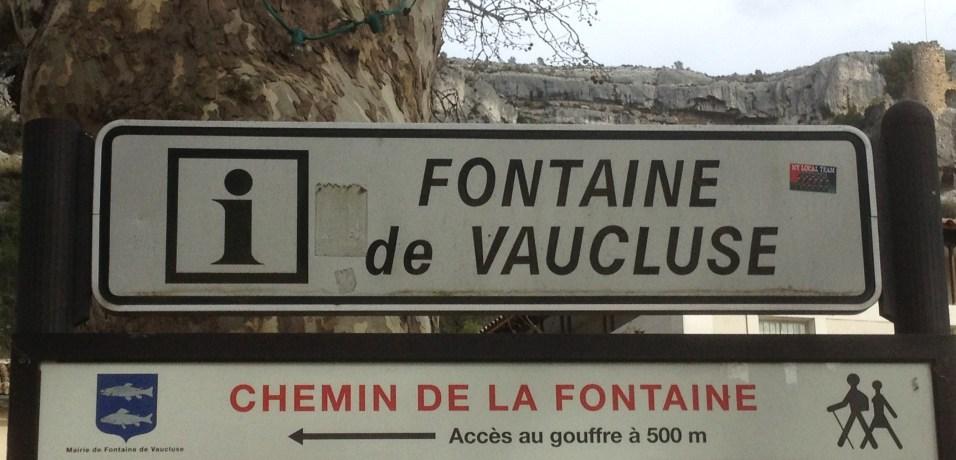Fontaine de Vaucluse - ma Cigale - mars 2013