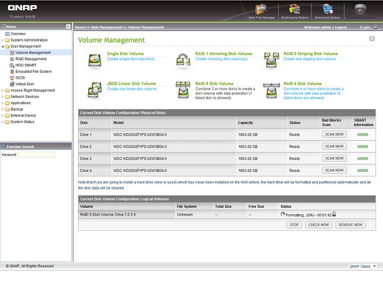 Formatage RAID 5