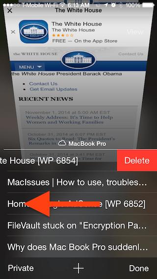 how to delete open tabs in icloud