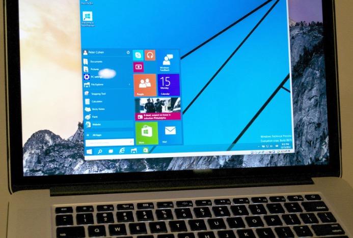 Windows 10 su Mac