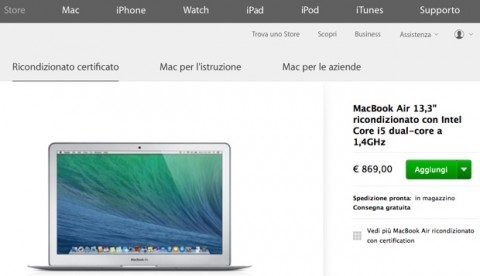 ricondizionati macbook air 620