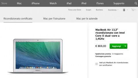 macbook air ricondizionati 13 620