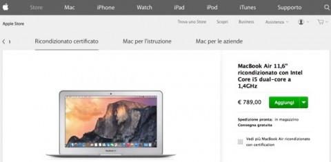 macbook air ricondizionati 620