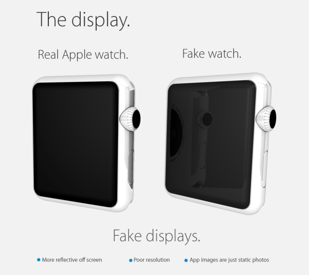 Riconoscere un Apple Watch originale da un Apple Watch falso