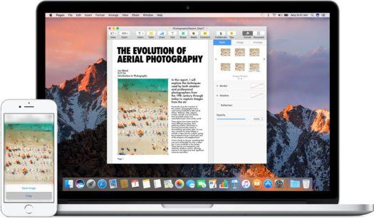 È possibile copiare immagini, video e testi da un'app sull'iPhone, e incollarli in un'altra app sul Mac che si trova nella vicinanze, o viceversa.
