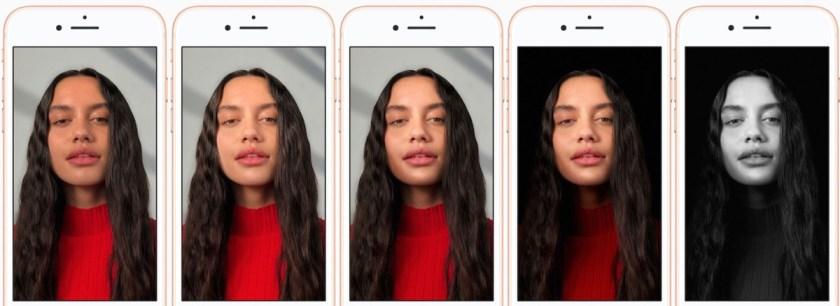 modalità illuminazione di iPhone 8 Plus e iPhone X