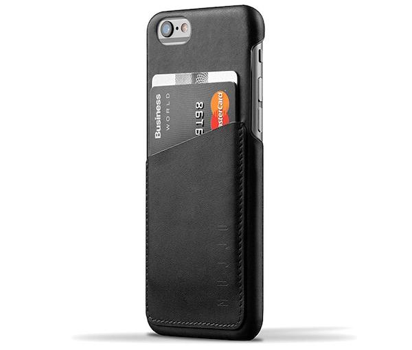 Mujjo Leather Wallet Case per iPhone 6s e 6