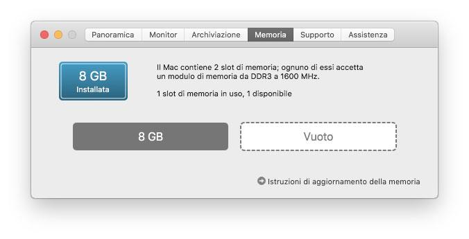 Mac mini lento, meglio più memoria