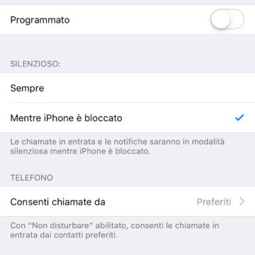 Non Disturbare iOS 12, come attivare la modalità sonno