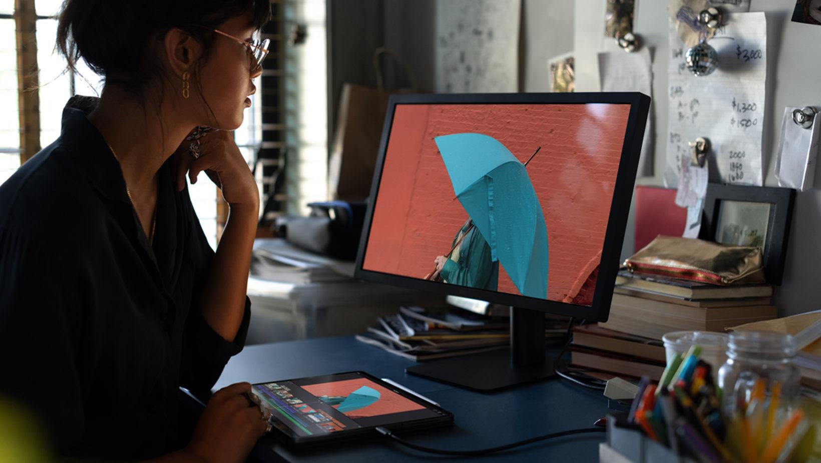 iPad Pro 2018 collegato ad un monitor esterno