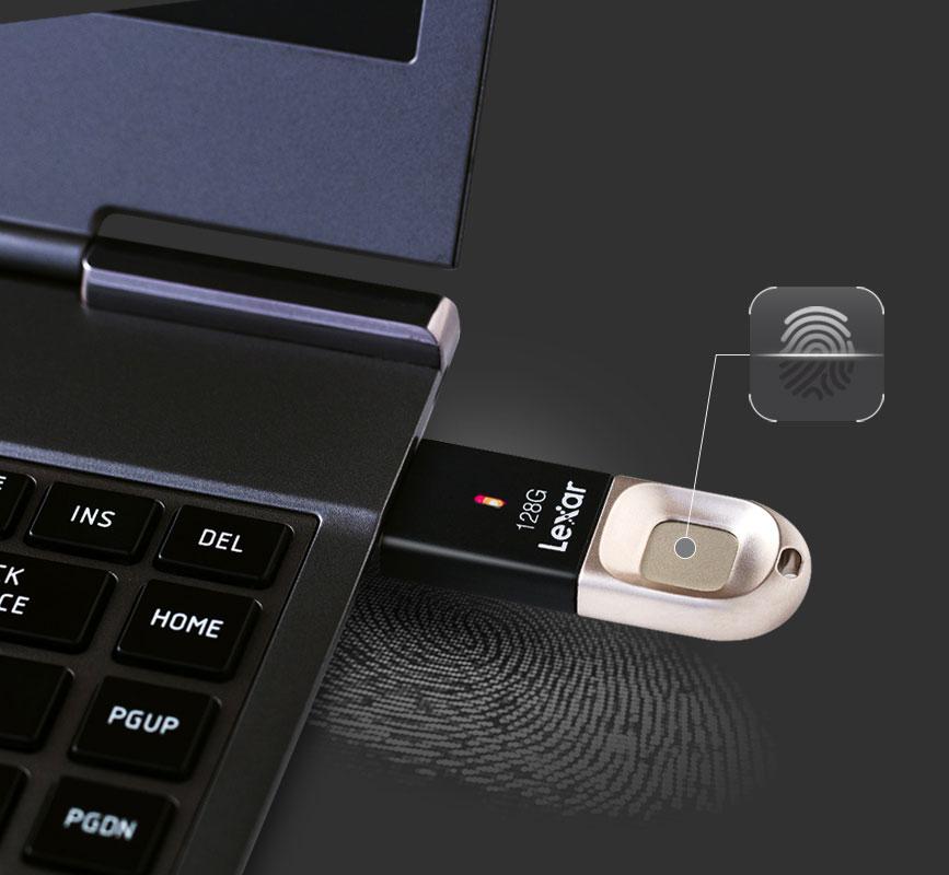 Lexar JumpDrive Fingerprint F35 foto chiavetta USB con impronta