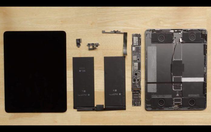 iPad da 12,9″ smontato: poche sorprese