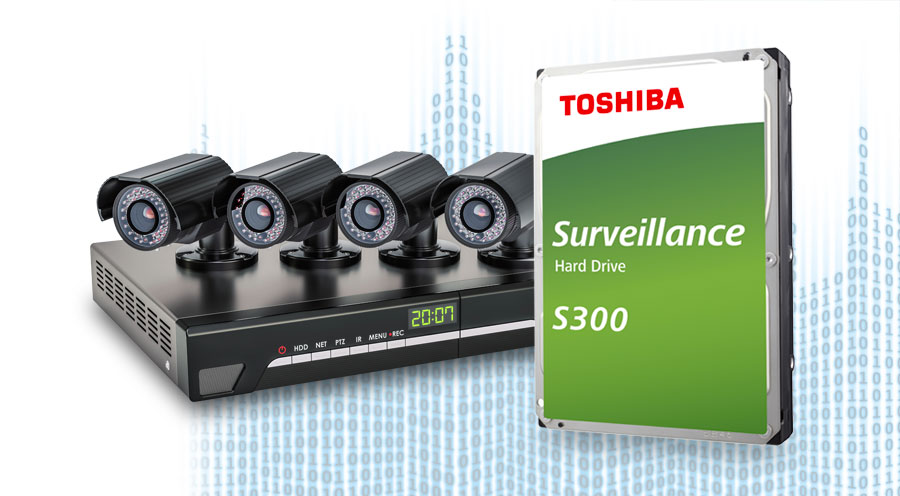 Toshiba S300 è una gamma di hdd specifici per sistemi di videosorveglianza