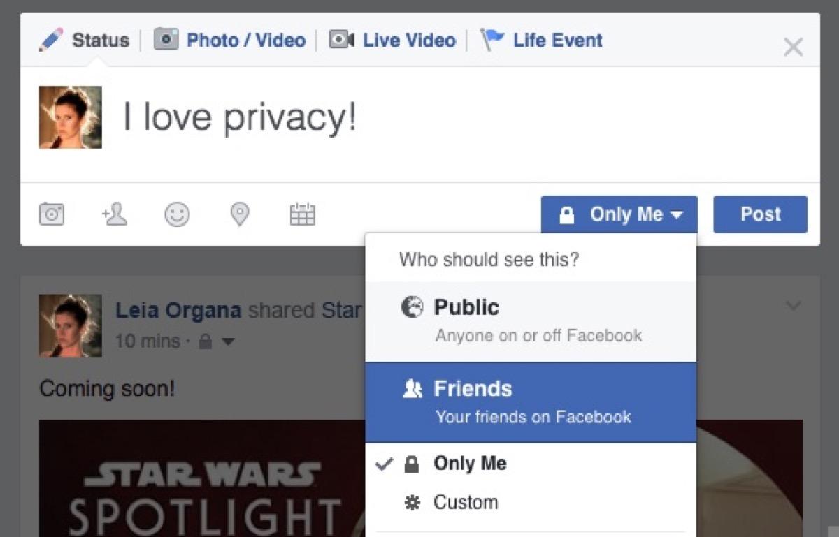 Le foto private di Facebook non sono state private per 12 giorni