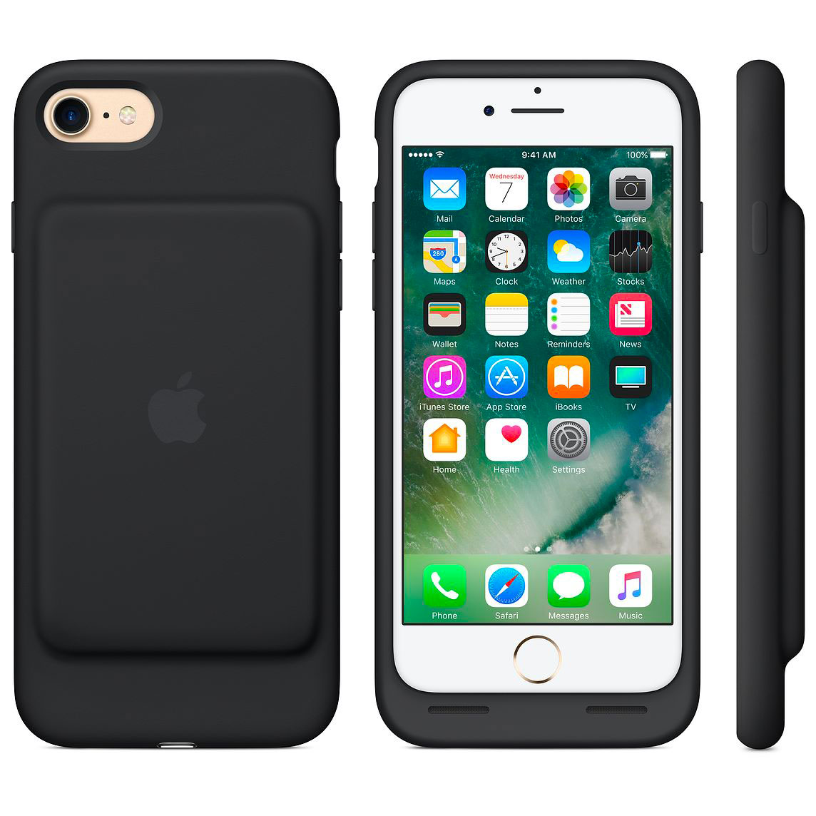 La Smart Battery Case nella variante di colore nero per l'iPhone 7