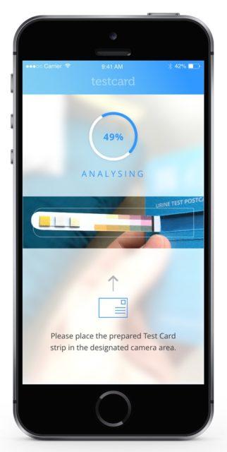 Testcard lancia il kit per il controllo delle urine su iPhone