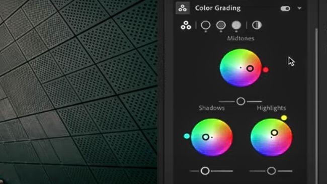 lightroom advanced color grading panel