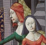 Two women wearing hoods, c. 1470