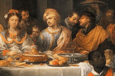 "Detail from the painting ""The Marriage Feast At Cana"" by Bartolome Esteban Murillo, 1675"