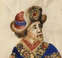 Duke with a wild fur trimmed and jeweled hat, c. 1450