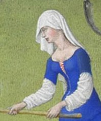 Woman working the fields in a veil, 1416