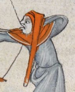 Hunter in capuchon with a long liripipe , c. 1300-1340