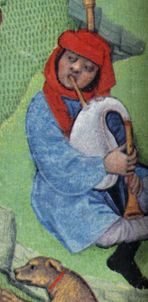 Peasant in a chaperon, late 1400's