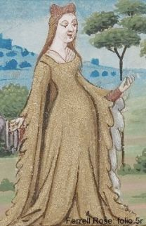 Robe with dagging on the sleeves, (1200's or early 1300's)