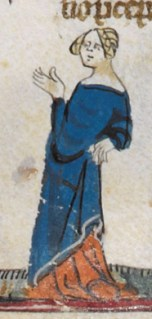 Loose tunic over a very long cote, c. 1300-1340