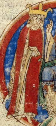 Lady covered in a mantle. Under that she wears a wide sleeved patterned over-gown. 1009-1111