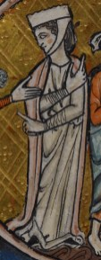 Lady in a cote and mantle, c. 1240