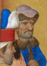 Grumpy man with a brimmed hat and a fur collar, c. 1485