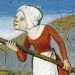 Hood tied on the top of the head, 1490