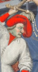 Man in a baggy chaperon c. 1410-1430 the Bedford Hours c. 1410-1430