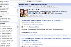 Use Google Reader's Shared Items for post ideas