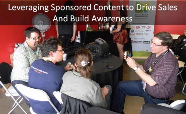 Using influencers to create sponsored content