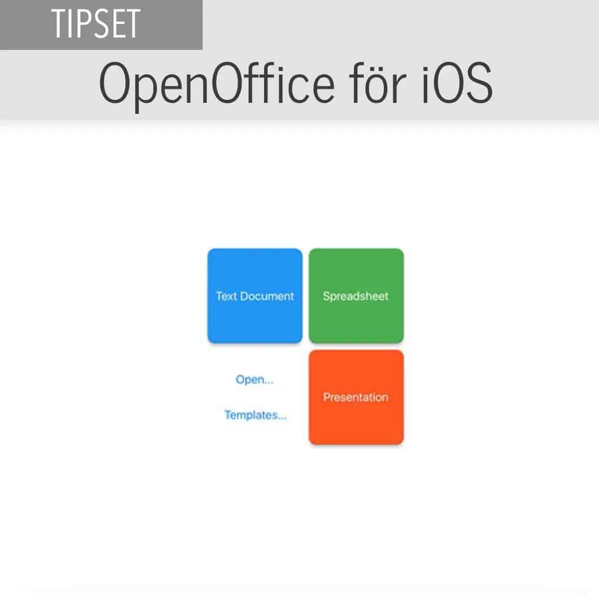 Openoffice Ios