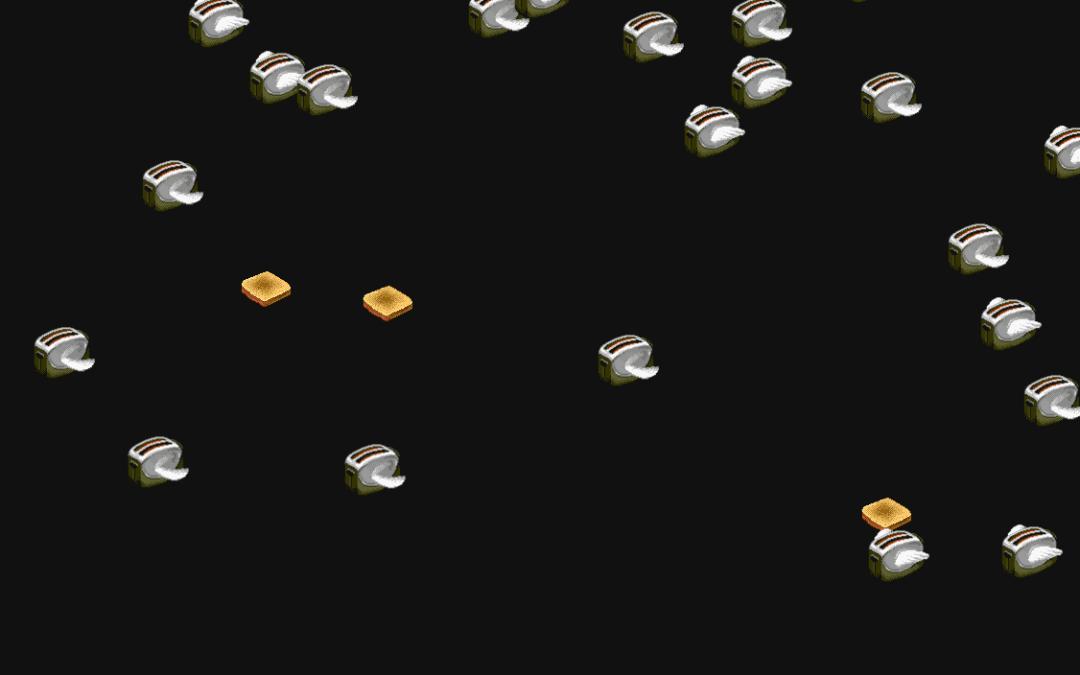 Ladda ned flygande brödrostar som skärmsläckare