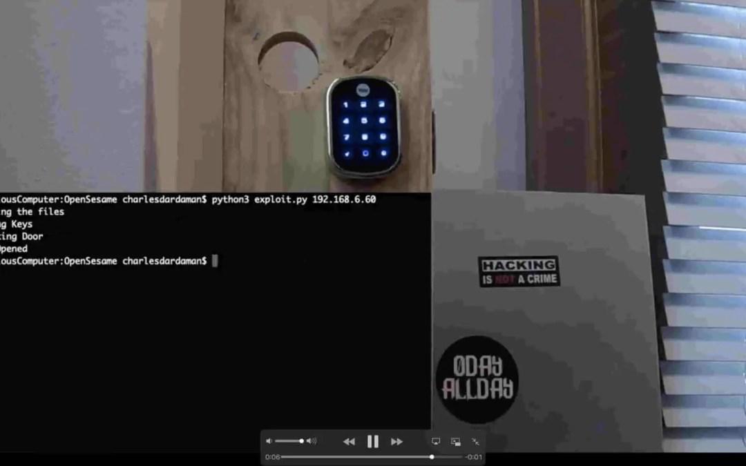 Se videon där hackare låser upp ett elektroniskt lås