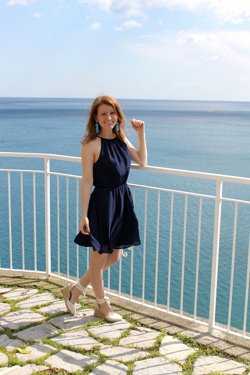 OUTFIT AFFORDABLE NAVY DRESS Design Darling