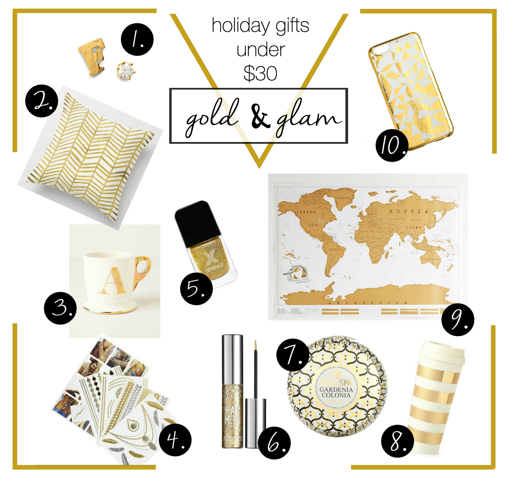 Gift Guide: Gold & Glam