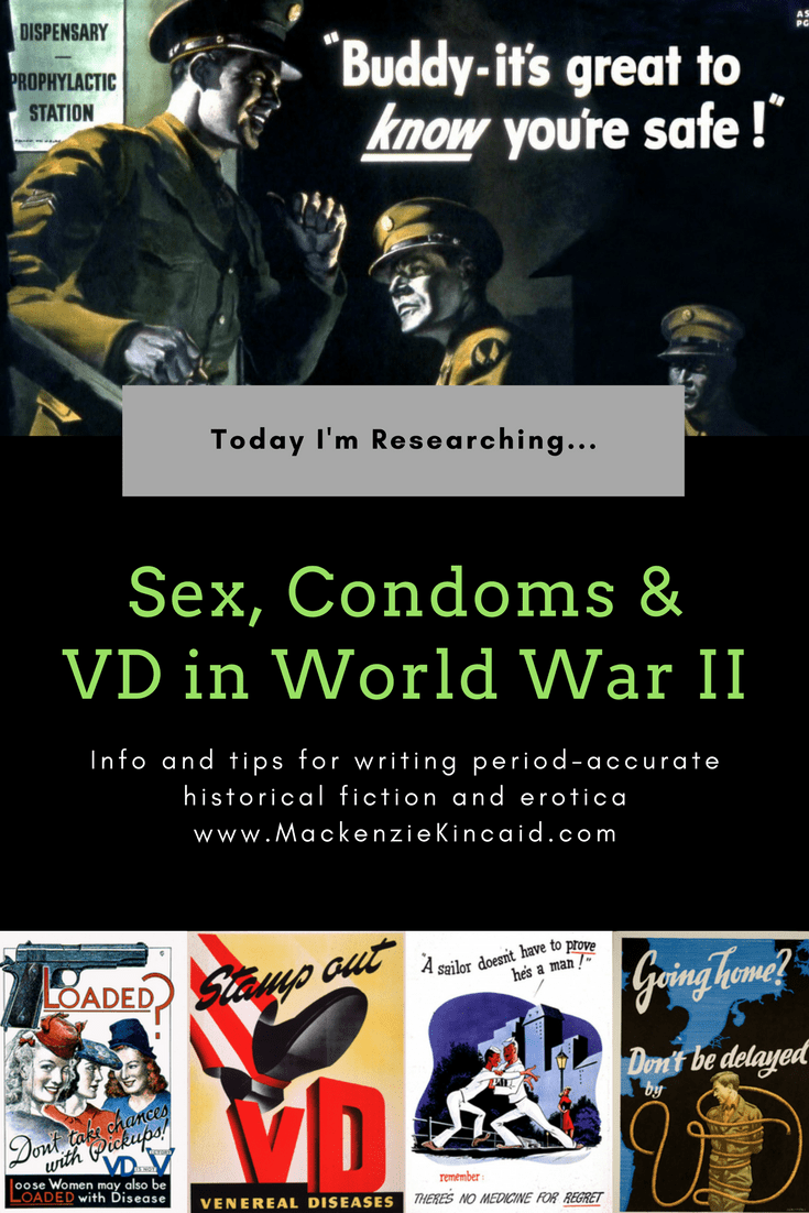 Writing sex scenes set in World War II? Here's just the ridiculously long post you needed, with information on 1940s condom technology, pro stations, and the Army's war against VD. You're welcome.